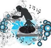 Affiche abstraite de concert de vecteur illustration stock