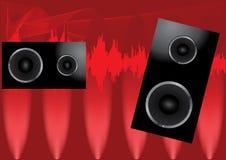 affiche abstraite de haut-parleurs Images stock