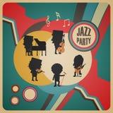 Affiche abstraite de jazz-band Image stock