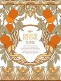 Affiche, achtergrond met ruimte voor tekst en decoratieve bloemen in Jugendstilstijl stock illustratie