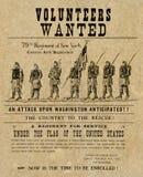 Affiche américaine de guerre civile Image libre de droits
