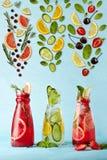 Affiche avec des limonades Image stock