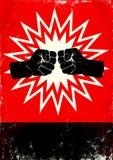 Affiche avec des poings Photographie stock libre de droits