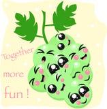 Affiche avec des raisins mignons - illustration de vecteur, ENV illustration libre de droits