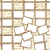 Affiche avec des timbres-poste sur le fond grunge illustration de vecteur