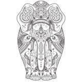 Affiche avec l'éléphant modelé Photos stock
