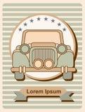 Affiche avec la rétro limousine Photo stock