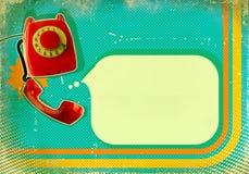 Affiche avec le téléphone démodé illustration de vecteur