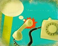 Affiche avec le téléphone démodé illustration libre de droits