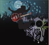 Affiche, bande de festival de roche. illustration stock