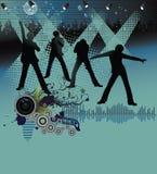 Affiche, bande de festival de roche. illustration libre de droits