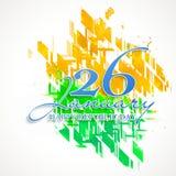 Affiche, Banner of Vlieger voor de Indische Dag van de Republiek Royalty-vrije Stock Fotografie