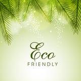 Affiche, banner of vlieger voor Vriendschappelijke Eco Royalty-vrije Stock Fotografie