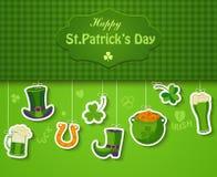 Affiche, bannière ou fond pour le jour heureux de St Patricks Photo libre de droits