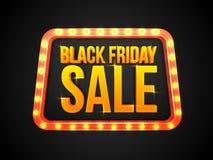 Affiche, bannière ou insecte de vente de Black Friday Illustration Libre de Droits