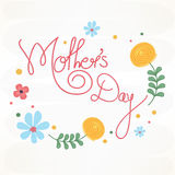 Affiche, bannière ou insecte pour le jour de mère heureux Photographie stock libre de droits