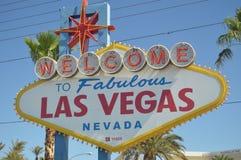 Affiche bienvenue de Las Vegas sur la bande de Las Vegas Vacances de voyage photos libres de droits