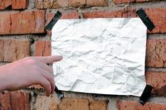 Affiche blanc Images libres de droits