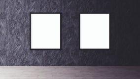 Affiche blanche avec la maquette vide de cadre Image stock
