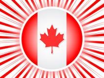Affiche canadienne d'indicateur illustration de vecteur