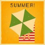 Affiche carrée d'heure d'été rétro illustration libre de droits