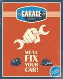 Affiche classique de garage Voitures de vintage Rétro type Image libre de droits