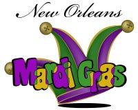 Affiche colorée de mardi gras Image libre de droits