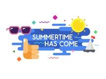 Affiche colorée de typographie de vente d'été Image stock