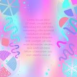 Affiche colorée lumineuse avec des formes abstraites illustration de vecteur