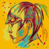 Affiche colorée Punk de coiffure Abstraction Images libres de droits