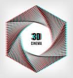 Affiche créative de bannière de concept du cinéma 3D illustration stock