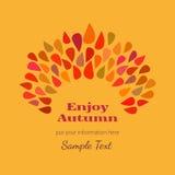 Affiche décorative d'automne illustration libre de droits
