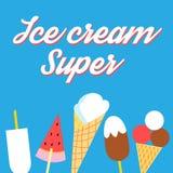 Affiche délicieuse superbe de crème glacée de vecteur Photo stock