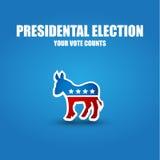 Affiche d'élection Photo stock