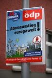 Affiche d'élection Photographie stock