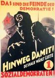 Affiche 1930 d'élection d'Allemand Photo stock