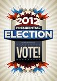 Affiche d'élection des Etats-Unis illustration stock