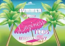 Affiche d'été Photographie stock