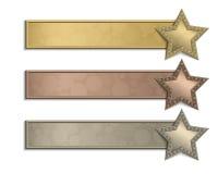 Affiche d'étoile Images libres de droits