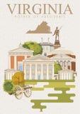 Affiche d'Américain de vecteur de la Virginie Type de cru illustration libre de droits