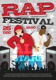 Affiche d'annonce de festival de rap illustration stock