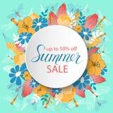 Affiche d'annonce de vente d'été Images stock