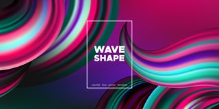 Affiche d'Art Brush Painted Abstract Wave illustration stock