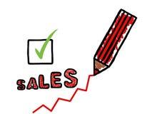 Affiche d'augmentation de ventes Image stock