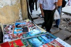 Affiche d'Aung San Suu Kyi photo libre de droits
