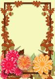 Affiche d'automne en vente saisonnière avec des feuilles et des fleurs de chêne Conception de calibre témoin illustration de vecteur