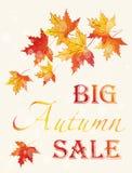 Affiche d'Autumn Sale Photo stock
