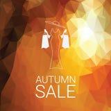 Affiche d'Autumn Sale Promotion d'offre spéciale Photo libre de droits