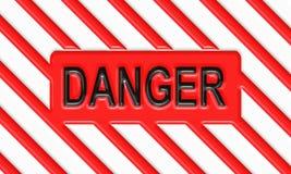 Affiche d'avertissement de risque de danger Images stock