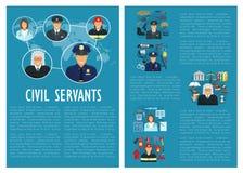 Affiche d'aviation de police de juge de fonctionnaires de vecteur illustration de vecteur